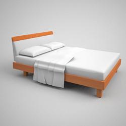 Link toContracted xi mengsai mattess wooden bed 3d models