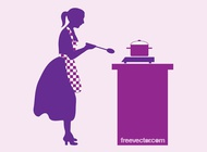 Link toCooking woman vector free