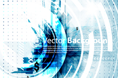 Link toCool blue circle vector background