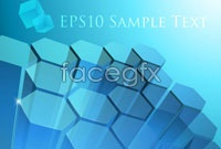 Link toCool blue cube three vector