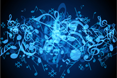 Link toCool blue note background vector