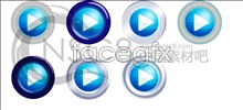 Link toCool blue player button icon