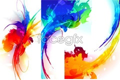 Link toCool currents multicolour pattern vector
