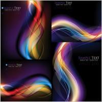 Link toCool dynamic light background vector symphony