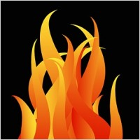 Link toCool fire pattern vector