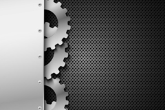 Cool gear design background vector