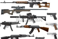 Cool gun vector graphics
