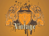 Link toCool heraldic lion shield vector free