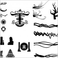 Link toCool lines wings patterns europeanstyle vector of ancient buildings