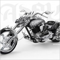 Link toCool motorcycle vector leading