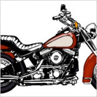 Link toCool motorcycle vector material
