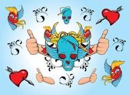 Link toCool skull illustration vector free