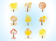 Link toCool tree icons vector free
