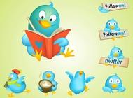 Link toCool twitter birds vector free
