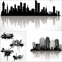 Link toCool vector silhouette of the city