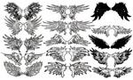 Link toCool wings vector