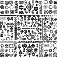 Link toCorner conventional black and white classic pattern vector