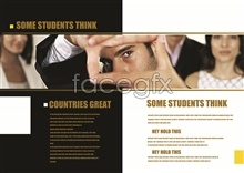 Link toCorporate brochure english typography book psd