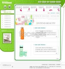 Link toCosmetics industry website templates psd