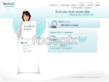 Link toCosmetics skin care template psd