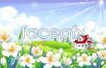Link toCountry flowers scenery vector