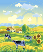 Link toCountry idyll illustration vector
