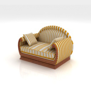 Link toCountry single leisure sofa 3d model