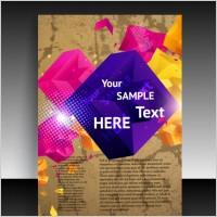Link toCover background beautiful flyers 01 vector
