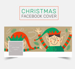 Cover of elf's face book vector