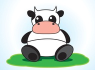 Link toCow cartoon character vector free
