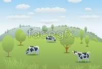 Link toCow pasture vector