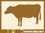 Cow silhouette image vector free