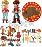 Link toCowboy cartoons comics vector