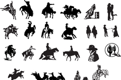 Link toCowboy silhouette vector