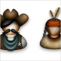 Link toCowboys and indians icons pack