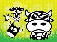 Link toCows cartoons vector free