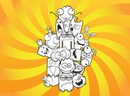 Link toCrazy cartoons vector free