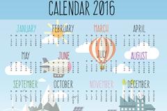 Link toCreative 2016 environmental calendar vector