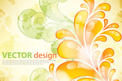 Link toCreative abstract floral background vector