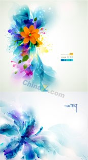 Creative abstract flowers vector