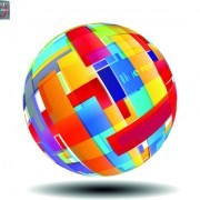 Link toCreative abstract sphere design vector 01