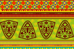 Creative african ethnic background pattern vector