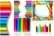 Link toCreative art colored pencils vector