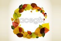 Link toCreative autumn leaves mix graphic vector 4