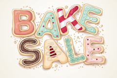 Creative bakery poster vector