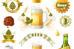 Link toCreative beer label icon vector