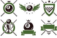 Link toCreative billiards logo design vector