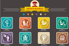 Link toCreative business growth icon vector