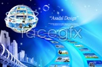 Link toCreative business technology psd