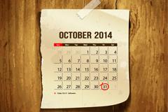Link toCreative calendar october 2014 stickers vector